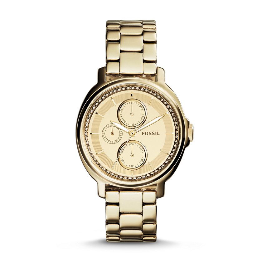 Fossil  Chelsey Multifunction Stainless Steel Watch - Gold-Tone  New