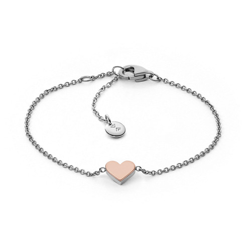 Katrine two tone heart pendant bracelet skagen free shipping click to view larger aloadofball Images