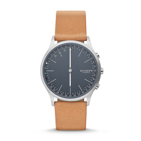 watches for men fall watch collection by skagen® new men s watches jorn connected leather hybrid smartwatch