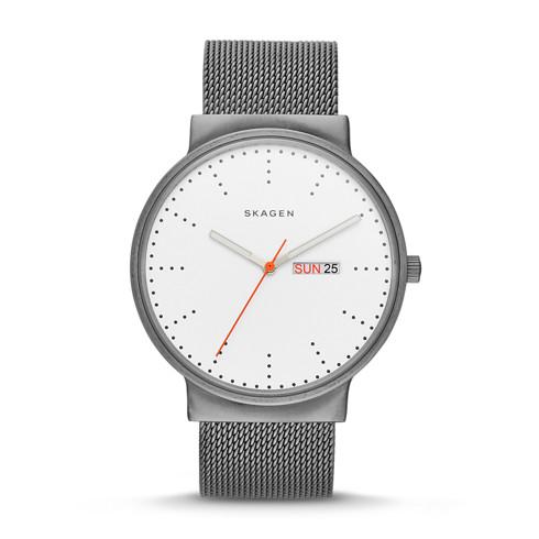 mens watch watches for men on skagen watch ancher titanium steel mesh watch