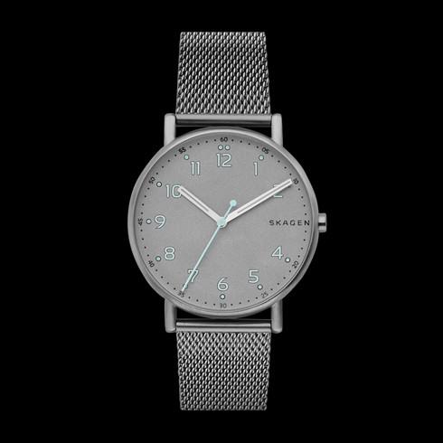 mens titanium watches skagen signatur titanium and steel mesh watch
