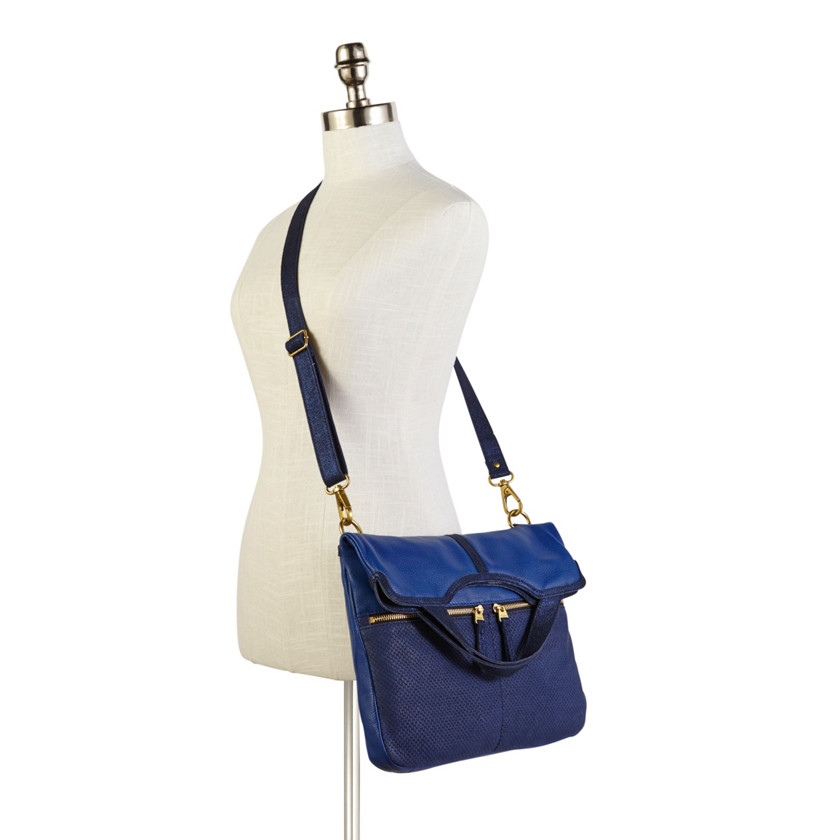 Details about New Fossil Womens Erin Tote Cobalt Blue Bag ZB5479402